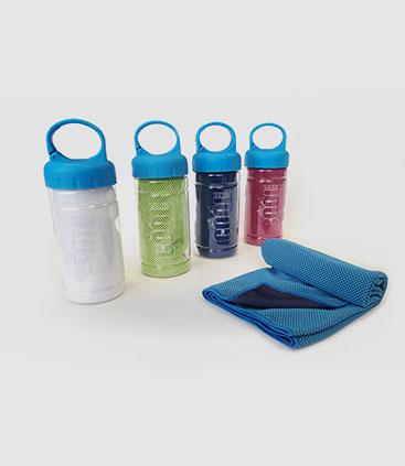 kühlendes handtuch cooling towel to go praktisch für unterwegs individuell bedruckbar werbemittel rgp team berlin