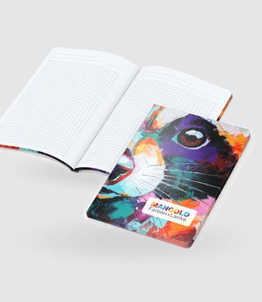 Notizheft kariert mit individuell bedruckbarem Umschlag