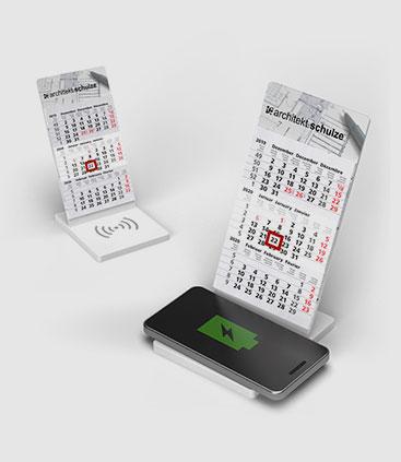 der kalender der mehr kann jetzt mit wireless ladestation rgp team werbemittel berlin