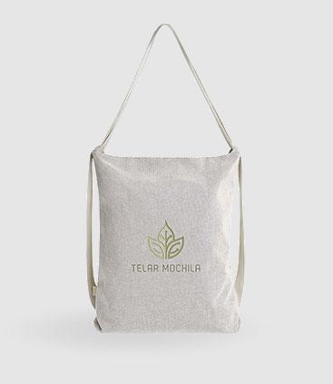 Multi Tasche aus Baumwolle als Rucksack oder Umhängetasche verwendbar