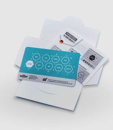 Karte für Passwortschutz im EC-Kartenformat