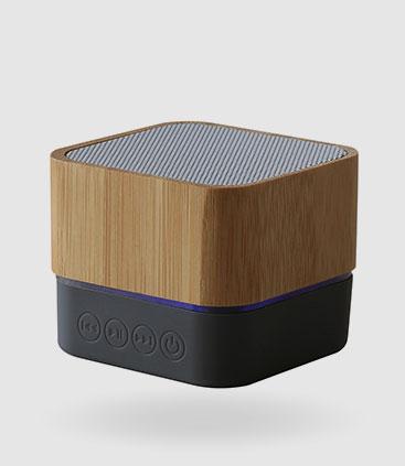 bamboo speaker lautsprecher im schicken bambus design werbemittel rgp team berlin