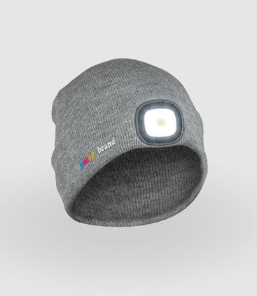graue Mütze mit LED Beleuchtung