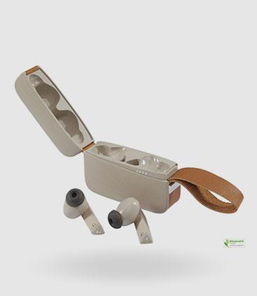 wireless kophörer edel mit leder und öko materialien recycle werbemittel berlin rgp team