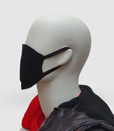 schwarze Gesichtsmaske aus Baumwolle