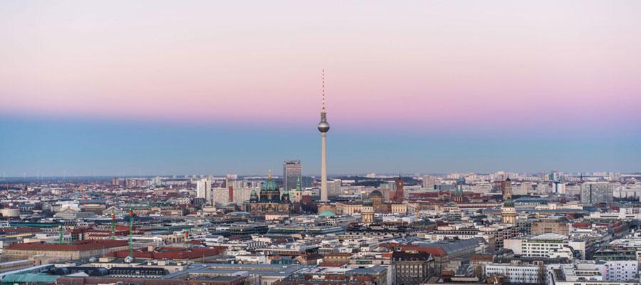 Blick über die Hauptstadt Berlin